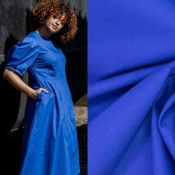 Tissu popeline de coton cobalt Fibremood Maya et Rosa