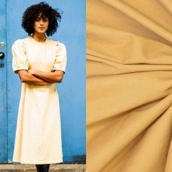 Tissu coton strech façon denim jaune Fibremood Noelle & Maya
