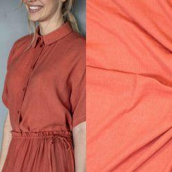 Tissu viscose plissée orange Fibremood Bloom & Aila
