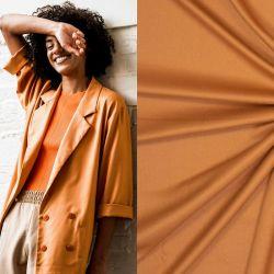 Tissu twill de viscose bambou orange Fibremood Noelle