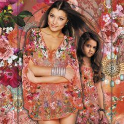 Panneau voile de coton pour coudre un Caftan rose 150 cm x 200 cm