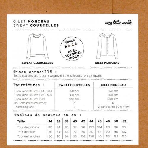Patron Gilet Monceau / Sweat Courcelles Cozy little world