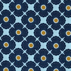 Tissu coton On a spring day bleu Cotton Steel