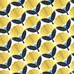 Tissu coton On a spring day jaune Cotton Steel