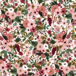 Tissu coton Garden party glitter or fond blanc Rifle Paper Co