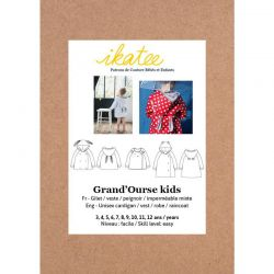 Patron Ikatee Grand'Ourse kids 3-12 ans