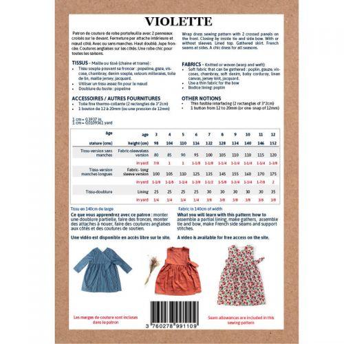 Patron Ikatee Violette 3-12 ans