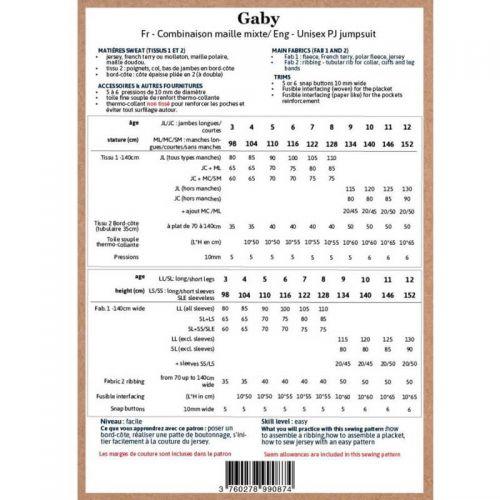 Patron Ikatee Gaby 3-12 ans