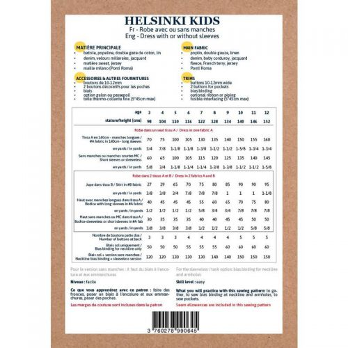 Patron Ikatee Helsinki Kids  3-12 ans