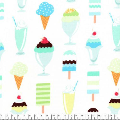 Tissu coton Michael Miller glaces
