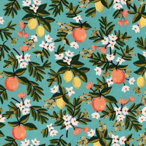 Tissu coton Orange/citrons Rifle Paper