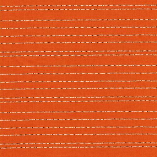 Tissu coton rayures pointillés fond moutarde