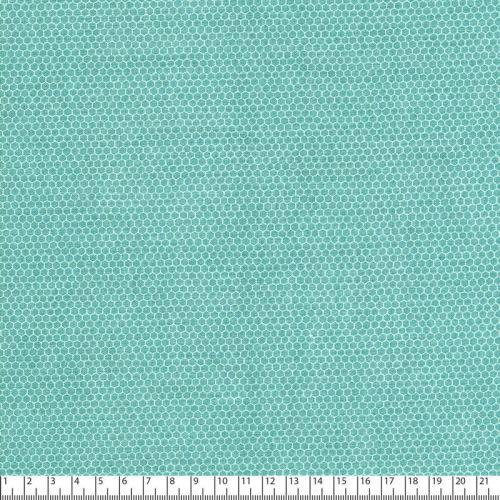 Tissu alvéoles fond vert larg 110