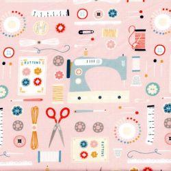 Tissu coton Sewing by Dashwood