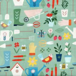 Tissu coton Gardening by Dashwood