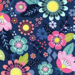 Tissu coton Festival grandes Fleurs Michael Miller