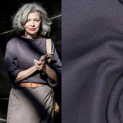 Tissu sweat fin coton gris Fibremood Fiona & Vera