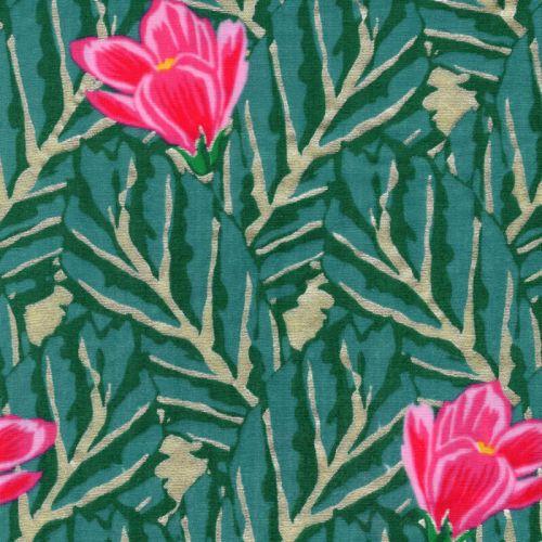 Tissu double gaze de coton Rico magnolia