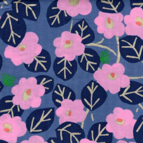 Tissu double gaze de coton Rico blossom