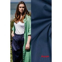 Tissu coton stretch bleu marine Onah, Dolly Fibremood