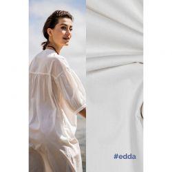 Tissu coton stretch écru Edda Fibremood