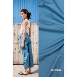 Tissu coton bleu Onah Fibremood