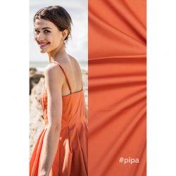Tissu coton orange Pipa Fibremood