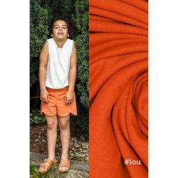 Tissu sweat léger orange Lou Fibremood