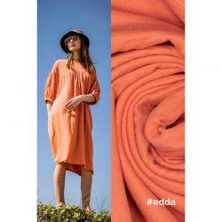 Tissu double gaze orange Edda Fibremood 100% coton larg 132