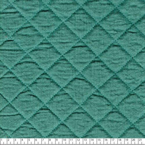Tissu double gaze de coton matelassée eucalyptus
