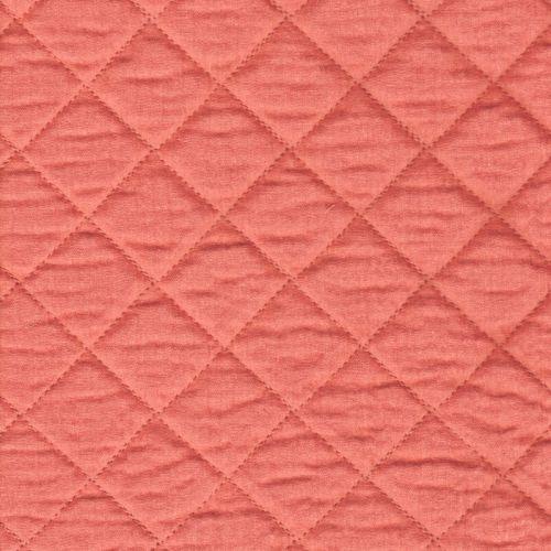 Tissu double gaze de coton matelassée marsala