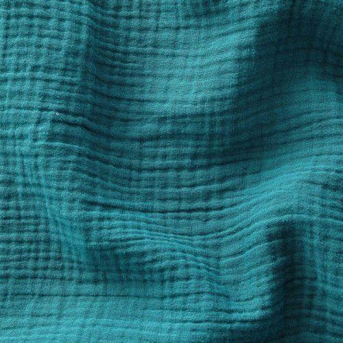 Tissu Double gaze de coton Emeraude
