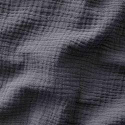 Tissu Double gaze de coton gris foncé