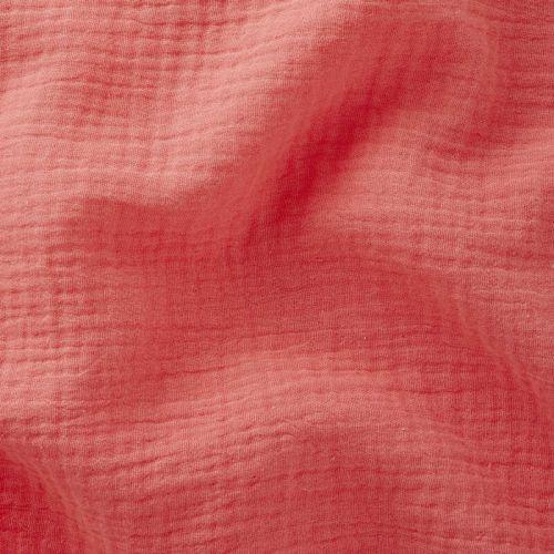 Tissu Double gaze de coton Corail
