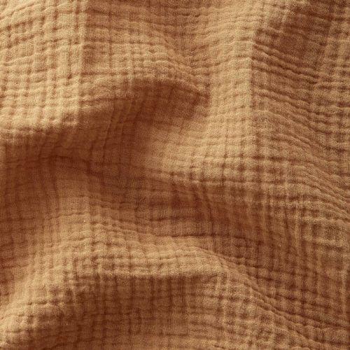 Tissu Double gaze de coton Camel
