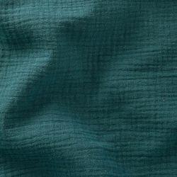 Tissu Double gaze de coton Paon