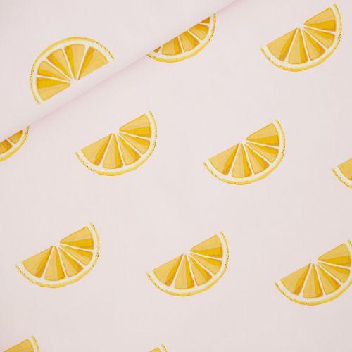 Tissu toile de coton Oranges See you at Six