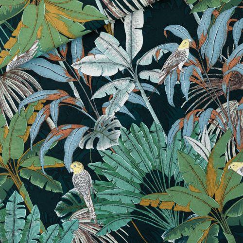 Tissu toile de coton Jungle See you at Six