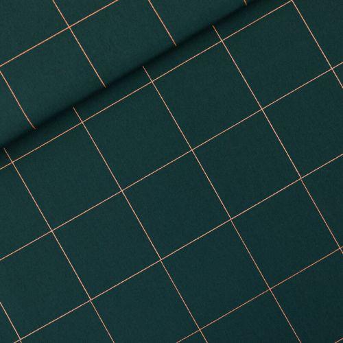 Tissu toile de coton Thin Grid See you at Six