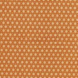 Tissu coton fleur de lin moutarde