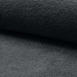 Tissu éponge coton gris foncé