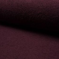 Tissu éponge coton bordeaux