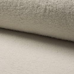 Tissu éponge coton écru