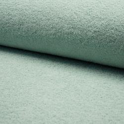 Tissu éponge coton vert céladon