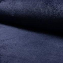 Tissu doudou bleu marine