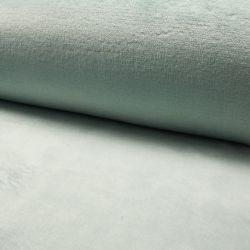 Tissu doudou vert menthe