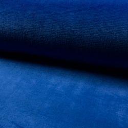 Tissu doudou bleu royal