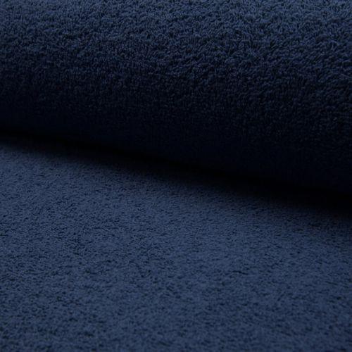 Tissu éponge coton bleu jean