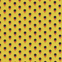 Tissu coton Delight Flowers jaune Fiona Hewitt