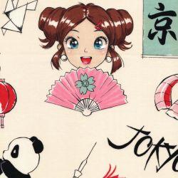 Tissu coton Tokyo dream